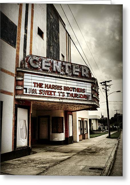 Old Lenoir Nc Movie Theater Greeting Card