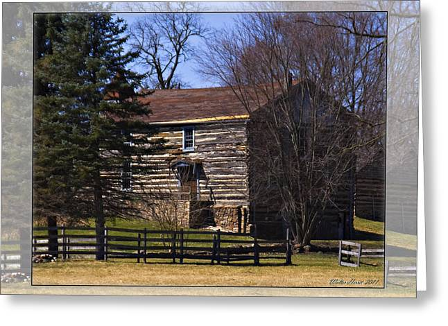 Old Log Home Greeting Card