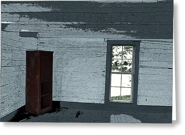 Old Log House Interior Greeting Card by Joyce  Wasser