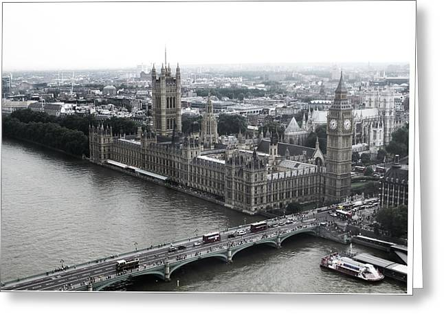 Old London .. New London Greeting Card