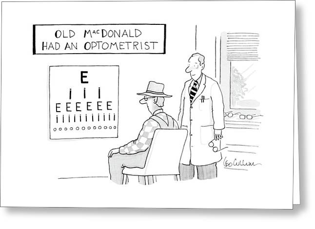 Old Macdonald Had An Optometrist Greeting Card