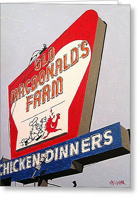 Old Macdonalds Farm Greeting Card by Paul Guyer