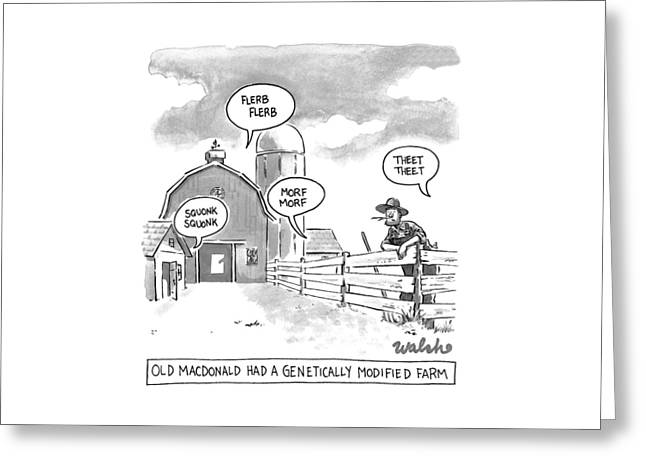 Old Macdonald's Genetically Modified Farm -- Greeting Card