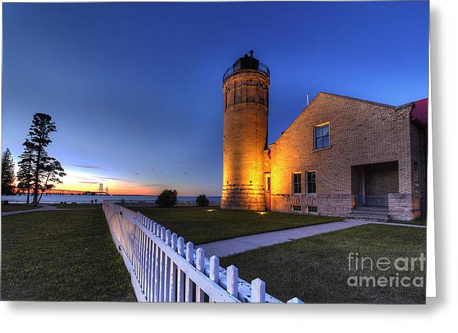 Old Mackinac Lighthouse Greeting Card