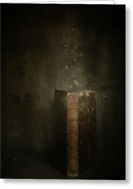 Greeting Card featuring the photograph Old Magic Book by Ethiriel  Photography