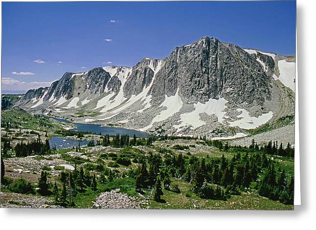 M-09702-old Main Peak, Wy Greeting Card