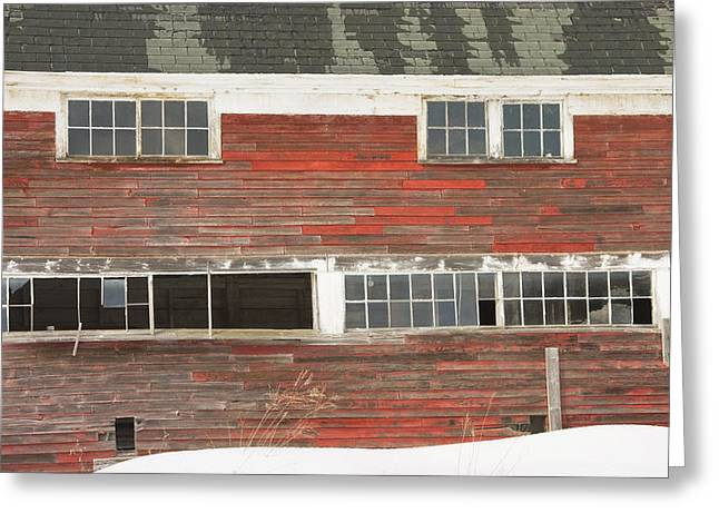 Old Maine Barn In Winter Greeting Card