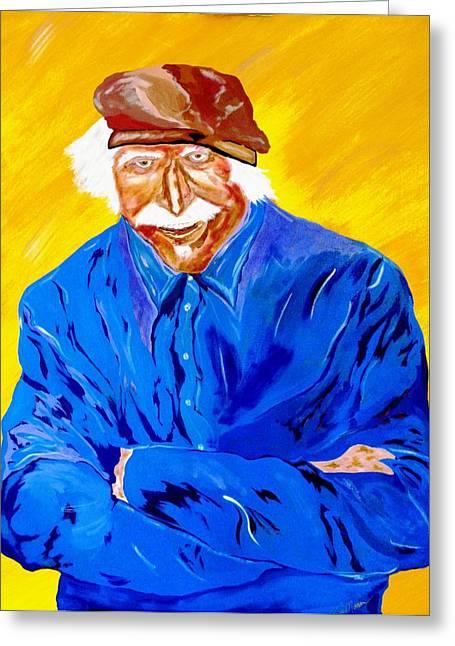 Old Man Hawk-artist Rendition Greeting Card