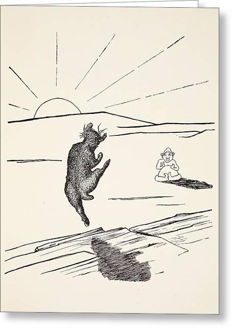 Old Man Kangaroo Greeting Card by Rudyard Kipling