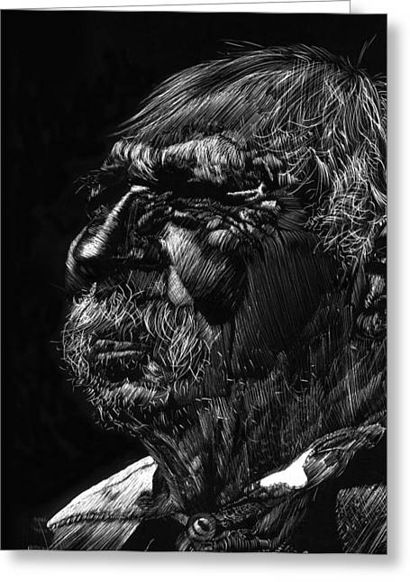 Old Man Greeting Card by Michele Engling