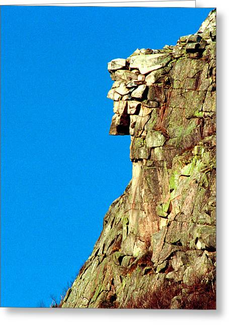 Old Man Of The Mountain Greeting Card