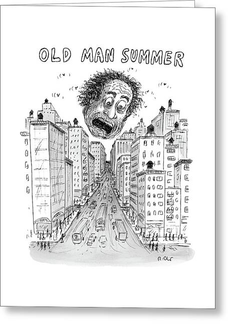 Old Man Summer Greeting Card