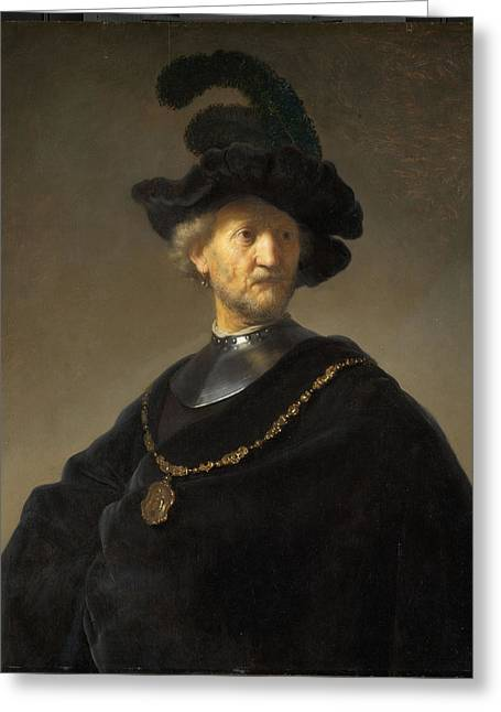 Old Man With A Gold Chain Greeting Card by Rembrandt van Rijn