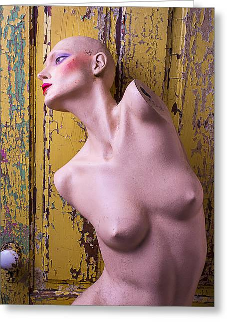 Old Mannequin Greeting Card