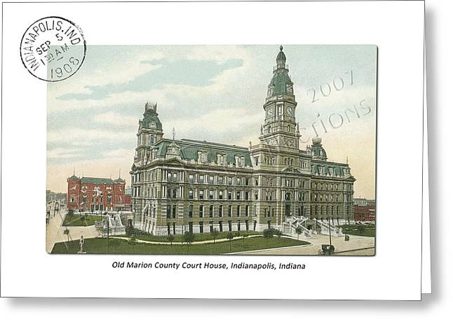 Old Marion County Court House In Indianapolis Indiana Greeting Card by Thomas Keesling