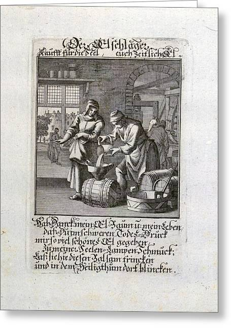 Old Master Print, 17th Century, 1600s, 1700s Greeting Card