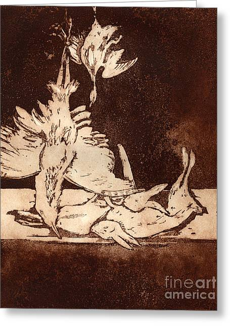 Old Masters Still Life - With Great Bittern Duck Rabbit - Nature Morte - Natura Morta - Still Life Greeting Card