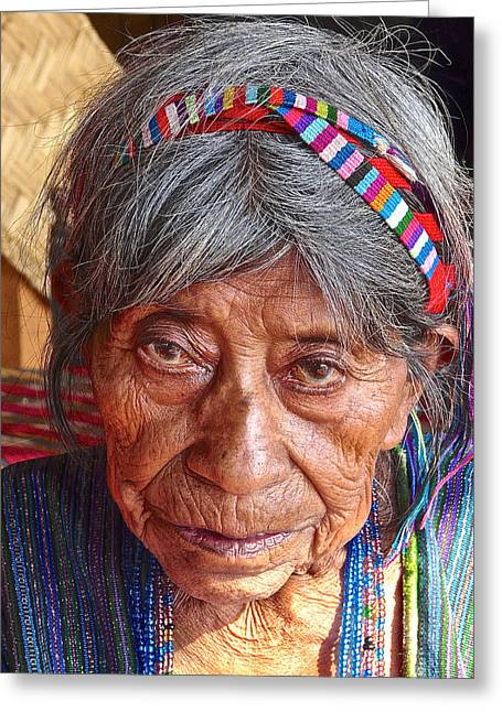 Old Mayan Woman Greeting Card by Eye Browses
