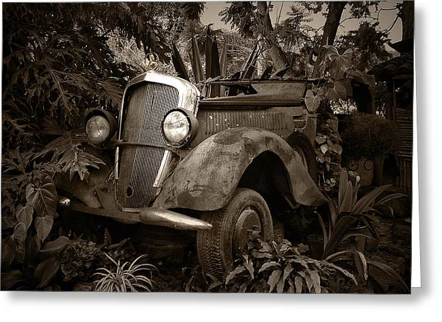 Old Mercedes Greeting Card
