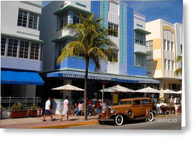 Old Miami Greeting Card by David Lee Thompson
