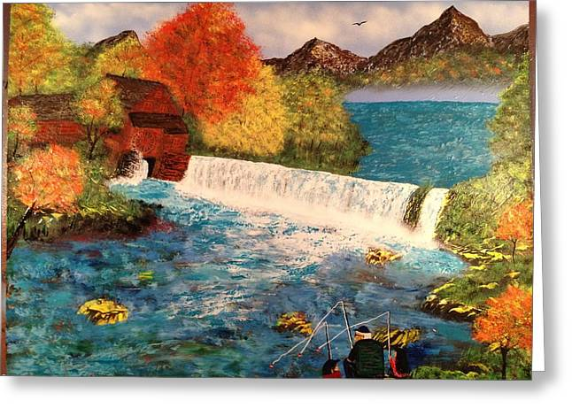 Greeting Card featuring the painting Old Michigan Mill by Michael Rucker