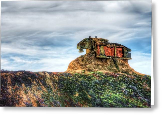 Old Military Base At Devil's Slide - San Mateo County California  Greeting Card
