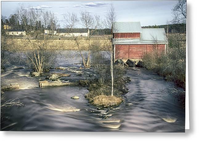 Old Mill 4 Greeting Card by Matti Ollikainen