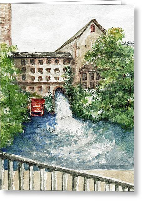 Old Mill Aqueduct Greeting Card by Elle Smith Fagan
