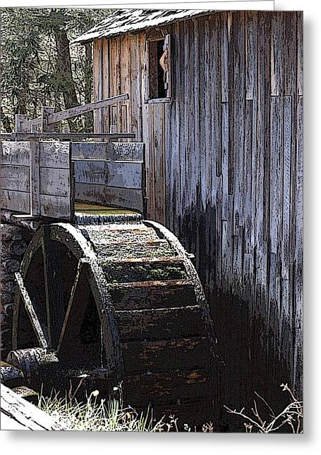 Old Mill Art01 Greeting Card