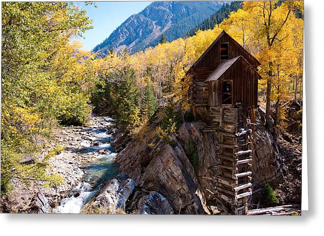 Old Mill Aspens Greeting Card