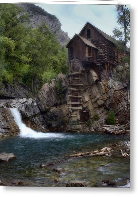 Old Mill At The Crystal River Greeting Card by Ellen Heaverlo