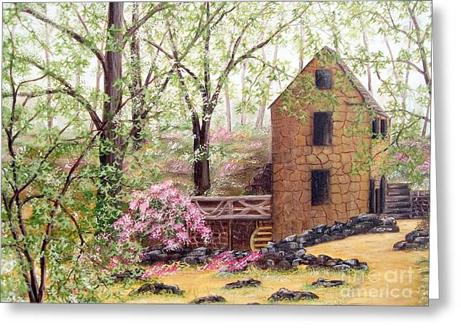 Old Mill Back Trail Greeting Card