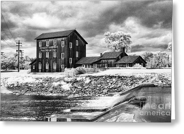 Old Mill In Frankenmuth Greeting Card by Jeff Holbrook