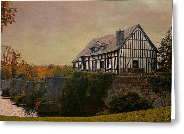 Old Mill On The Broken Bridge At Vernon Greeting Card by Jean-Pierre Ducondi