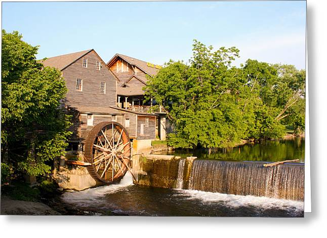 Old Mill Pigeon Forge Tennessee Greeting Card by Cynthia Woods