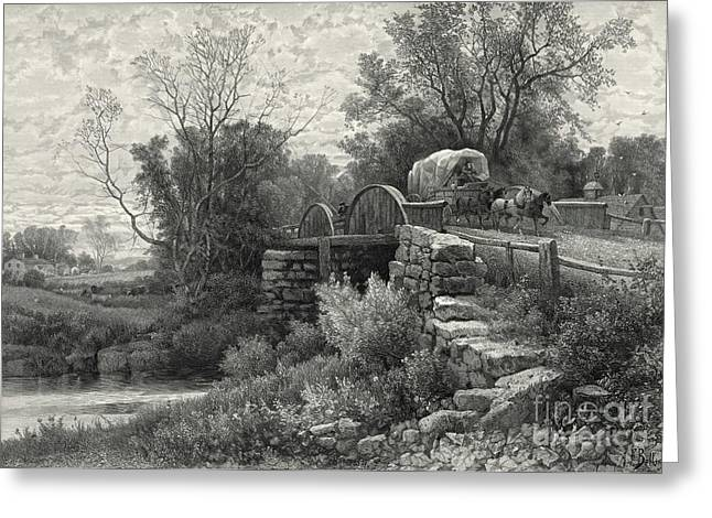 Old Mill Stream 1883 Greeting Card by Padre Art