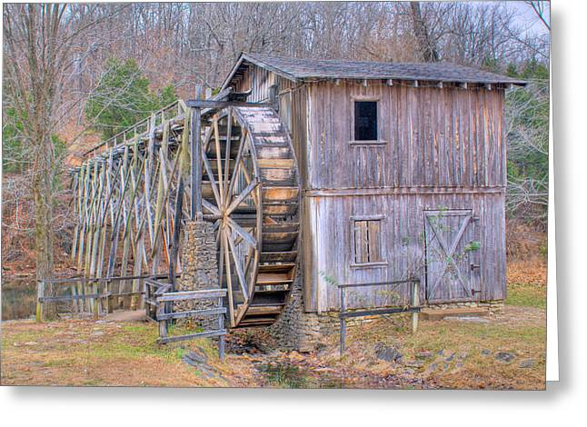Old Mill Water Wheel And Sluce Greeting Card by Douglas Barnett