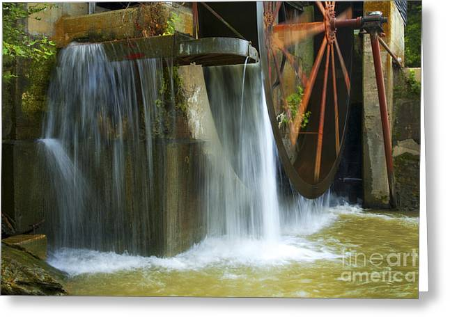 Old Mill Water Wheel Greeting Card by Paul W Faust -  Impressions of Light