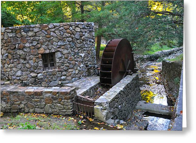 Old Mill Wheel Greeting Card