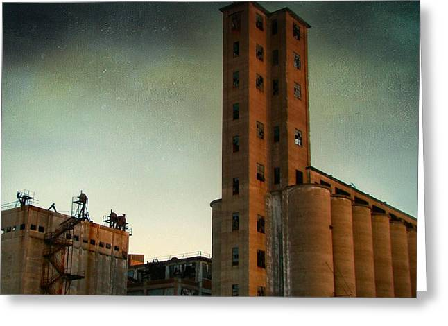 Old Buffalo Grain Mills Greeting Card by Gothicrow Images