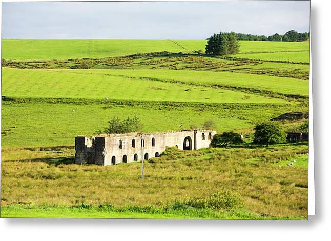 Old Mine Buildings Near Gilsland Greeting Card by Ashley Cooper