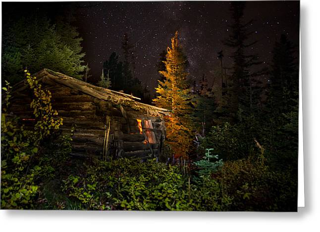 Old Miner's Cabin Greeting Card by Mark Mesenko