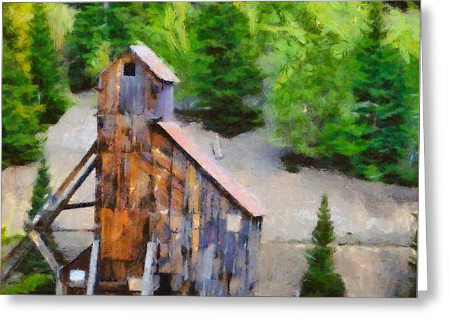 Yankee Girl Mine Greeting Card by Dan Sproul