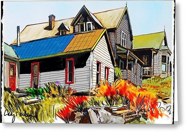 Old Mining Town Greeting Card by Craig Nelson