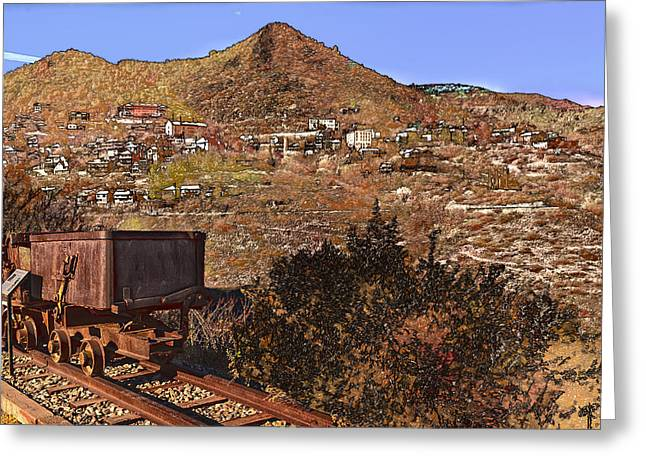 Old Mining Town No.24 Greeting Card