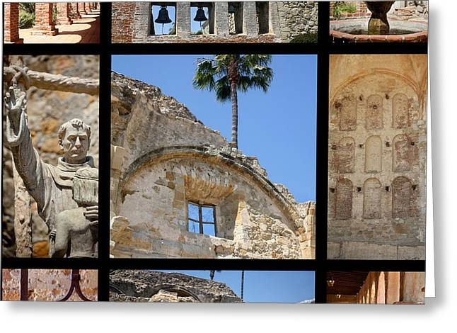 Old Mission San Juan Capistrano Greeting Card by Art Block Collections