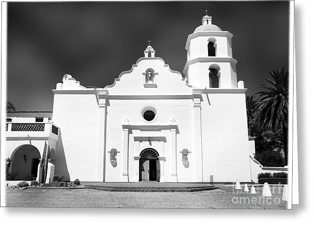Old Mission San Luis Rey De Francia Greeting Card by Glenn McCarthy Art and Photography
