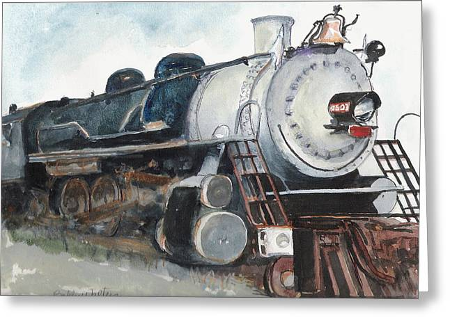 Old Mississippi Central Engine  Greeting Card
