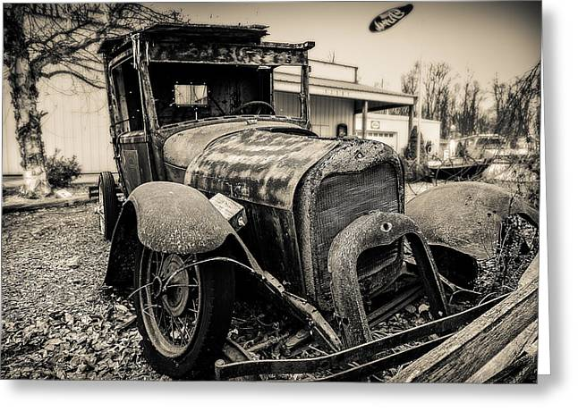 Old Model A Pickup Greeting Card by Keith Allen