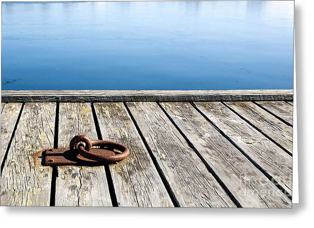 Greeting Card featuring the photograph Old Mooring Loop by Kennerth and Birgitta Kullman